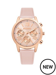 missguided-multidial-blush-strap-watch