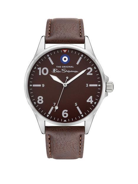 ben-sherman-black-dial-brown-strap-watch