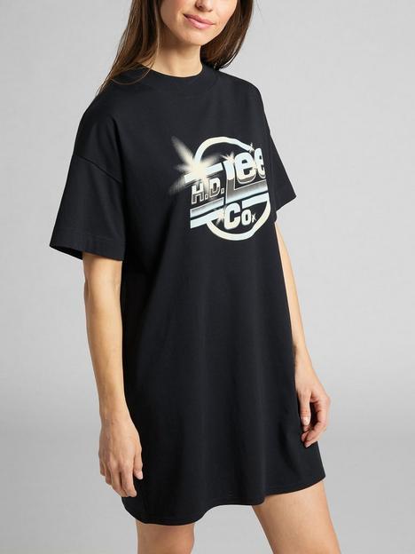 lee-logo-t-shirt-dress-black