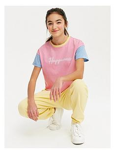 new-look-girlsnbspcolour-block-pastel-happiness-t-shirt-pink