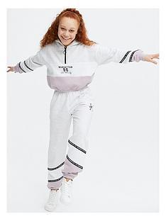 new-look-girlsnbspset-colour-block-zip-neck-hoodie-purple