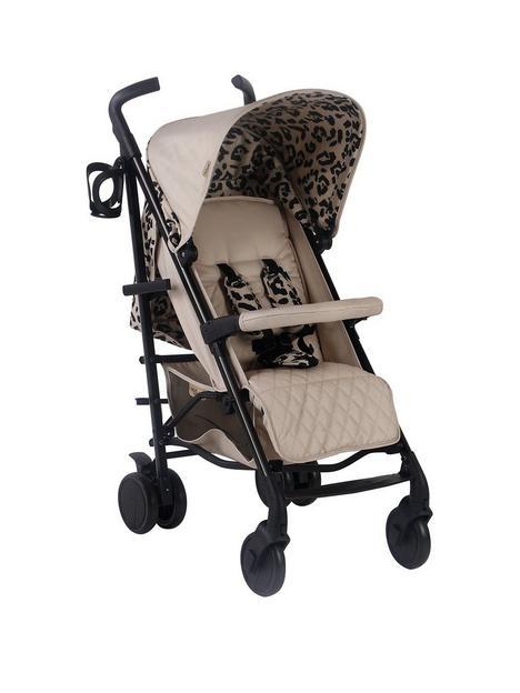my-babiie-dani-dyer-fawn-leopard-lightweight-stroller