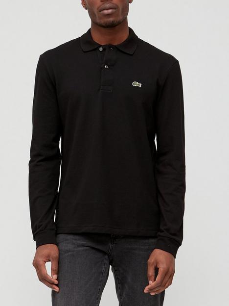 lacoste-sportswear-classic-long-sleeve-polo-black