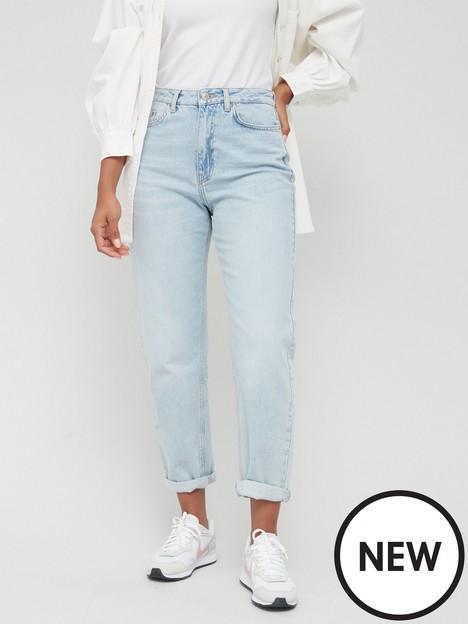 v-by-very-mom-high-waist-jean-bleach-wash