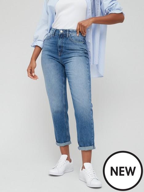 v-by-very-mom-high-waist-jean-mid-wash-blue