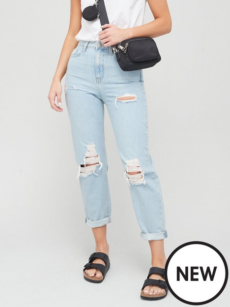 v-by-very-mom-high-waist-jean-with-rips-black-wash