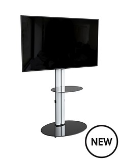 avf-eno-oval-600nbsppedestal-tvnbspstand-silverblack-fits-up-to-55-inch-tv