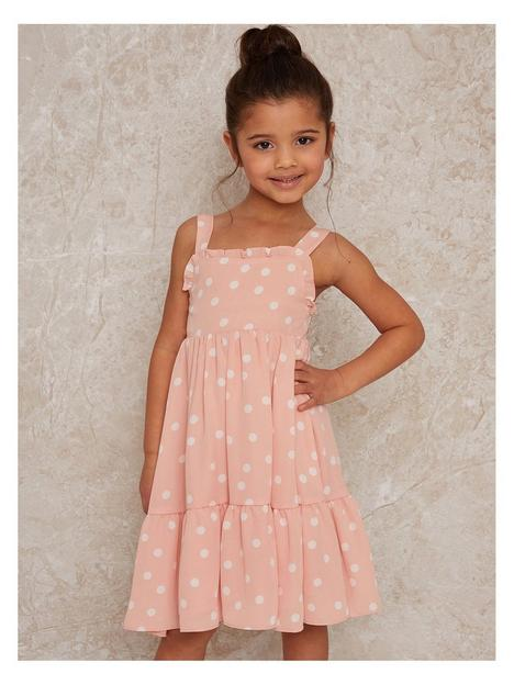 chi-chi-london-girls-sleeveless-polka-dot-midi-dress-pink