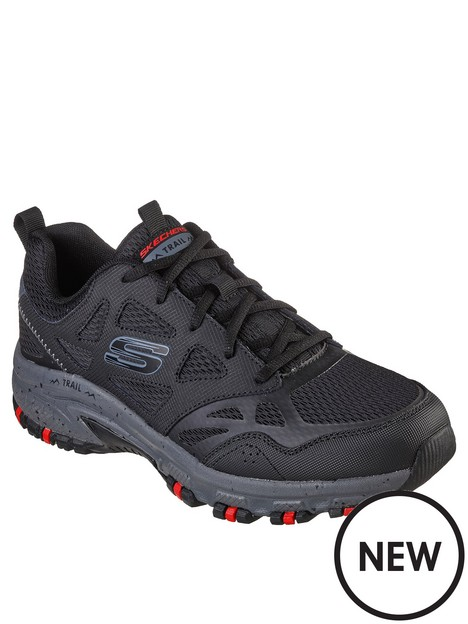 skechers-hillcrest-overlay-lace-up-trainer
