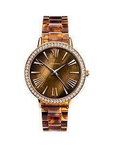 sekonda-sekonda-brown-mother-of-pearl-crystal-set-dial-tortoise-shell-bracelet-ladies-watch