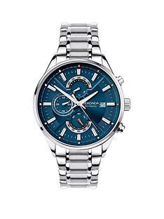 sekonda-sekonda-blue-dual-time-dial-stainless-steel-bracelet-mens-watch