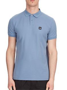 weekend-offender-weekend-offender-caneiros-badge-polo-shirt-steel-blue