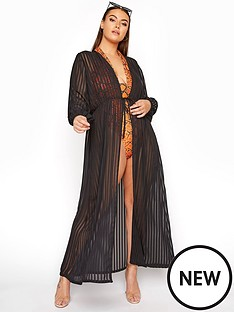 yours-yours-limited-shadow-stripe-cover-up-black