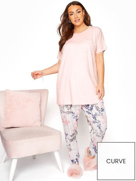 yours-yours-spring-floral-lounge-set-pink