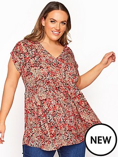 yours-yours-london-hi-lo-ditsy-tunic-red