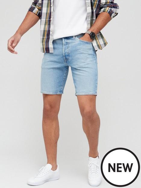 levis-501reg-hemmed-denim-shorts-light-indigo