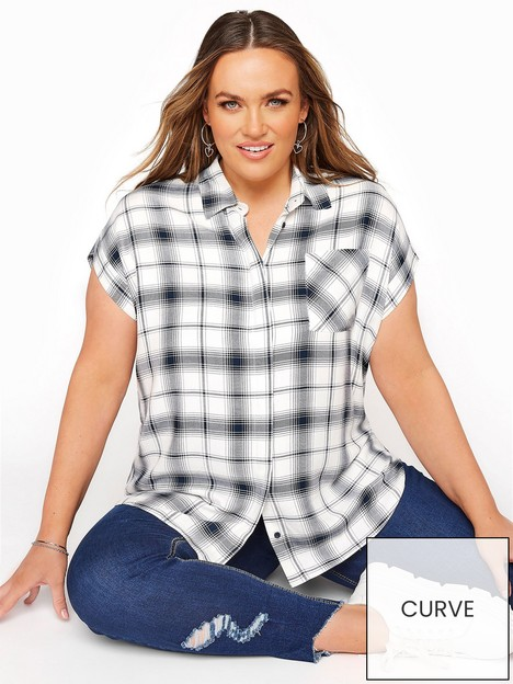 yours-yours-soft-handle-check-shirt-white