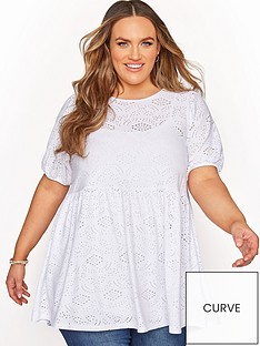 yours-yours-puff-sleeve-broderie-peplum-tunic-white