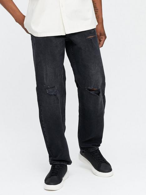 new-look-loose-multi-rip-jean-black