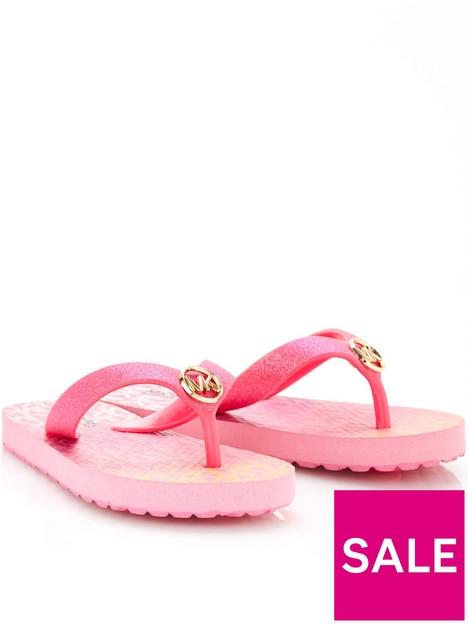michael-kors-girls-monogram-flip-flop-bright-pink