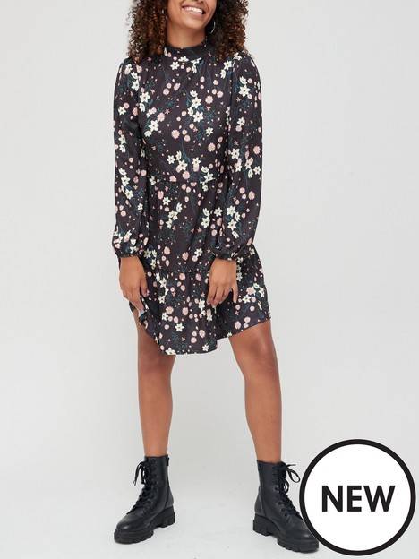 v-by-very-jerseynbsphigh-neck-tiered-dress-floral