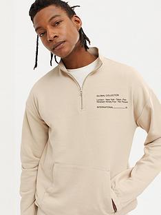 new-look-nbspquarter-zip-funnel-neck-sweatshirt-stone