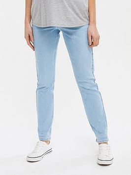 new-look-maternitynbspclean-mom-jeans-light-wash