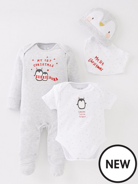 mini-v-by-very-baby-unisex-my-first-christmas-4-piece-set-white