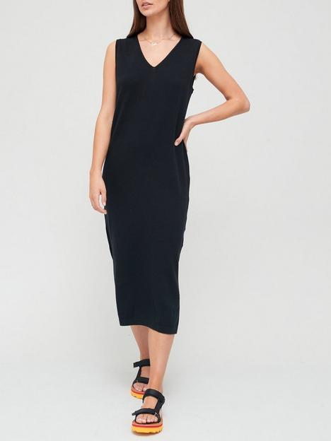 superdry-v-neck-knitted-dress-blacknbsp