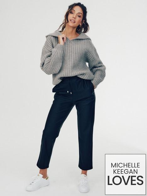 michelle-keegan-faux-leather-pu-jogger-black