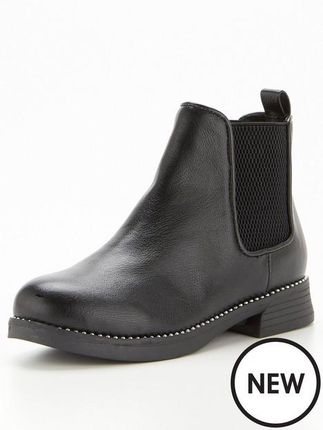 v-by-very-older-girls-stud-detail-chunky-chelsea-boot-black
