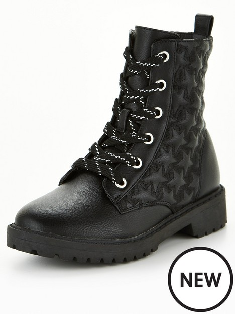v-by-very-older-girls-star-detail-lace-up-ankle-boot-black
