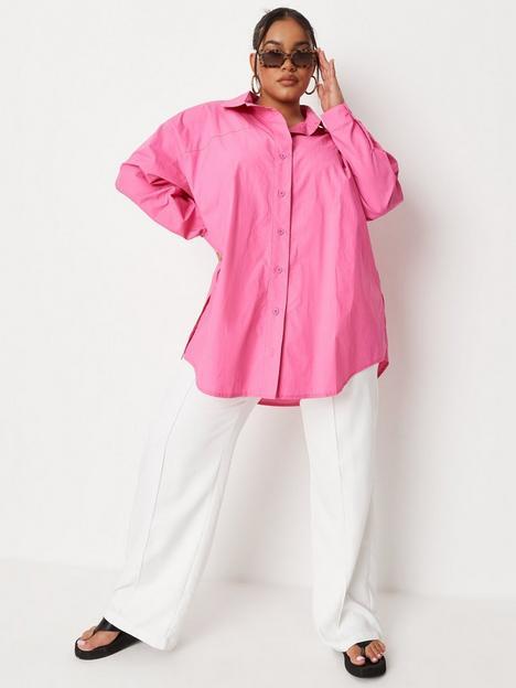 missguided-plus-missguided-plus-size-poplin-oversized-shirt