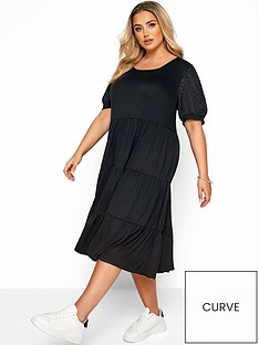yours-broderie-puff-square-neck-dress