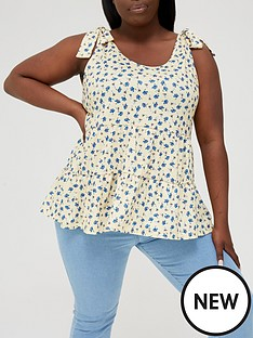 in-the-style-curve-in-the-style-curve-xnbspjac-jossanbsptie-shoulder-smock-top-yellow-floralnbsp