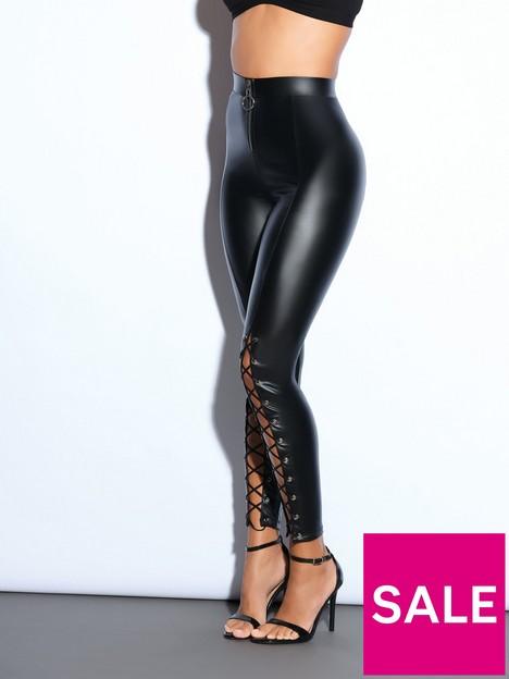 ann-summers-pu-lace-up-legging-black