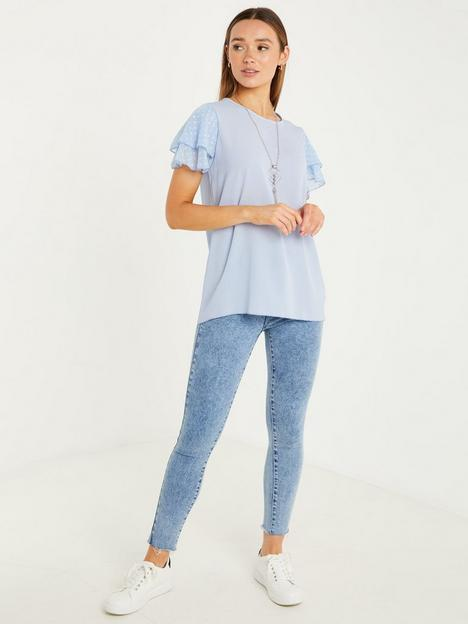 quiz-bubble-crepe-chiffon-sleeve-necklace-top-pale-blue