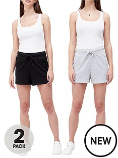 new-look-sweatnbspshorts-2-packnbsp--blackgrey