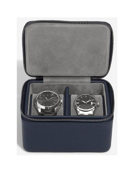 stackers-stackers-navy-blue-large-zipped-watch-box