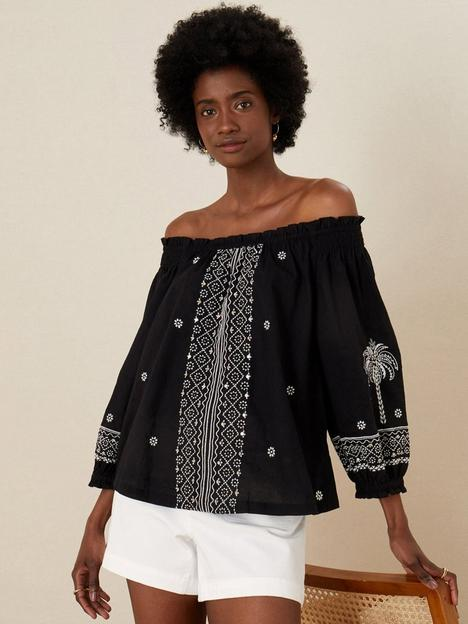 monsoon-palm-emb-top-off-the-shoulder