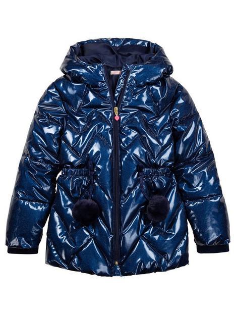 billieblush-girls-metallic-hooded-paddednbsppompom-coat-navy
