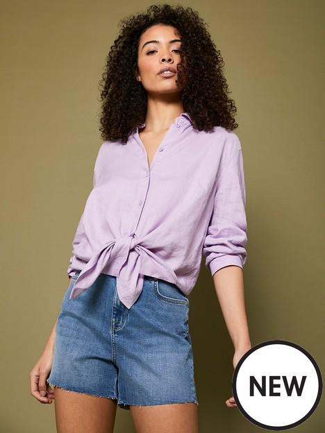 mint-velvet-mint-velvet-lilac-linen-long-sleeved-shirt