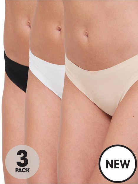 hunkemoller-3-packnbspinvisible-thong-multi