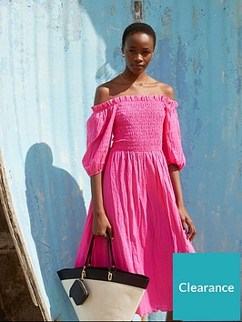v-by-very-bardot-seersucker-midi-dress-pink
