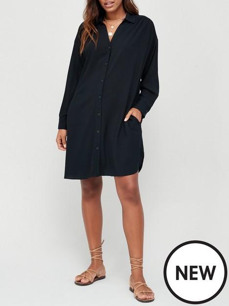 v-by-very-easy-shirt-dress-black