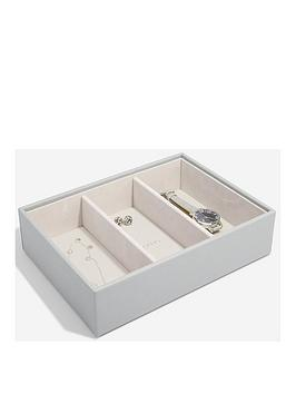 stackers-stackers-pebble-grey-classic-3-section-watch-accessory-box