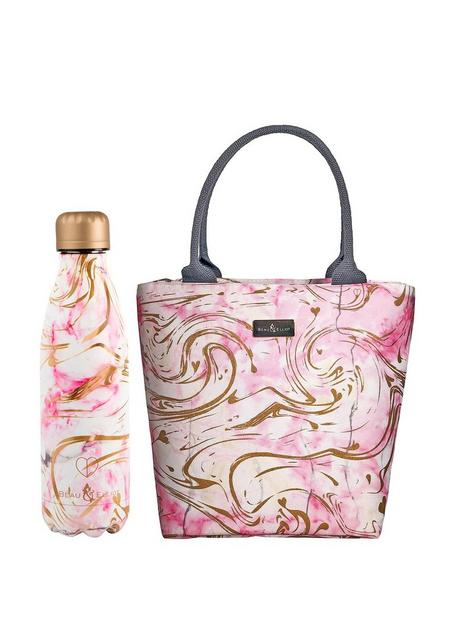 beau-elliot-quartz-insulated-lunch-tote-500ml-stainless-steel-bottle