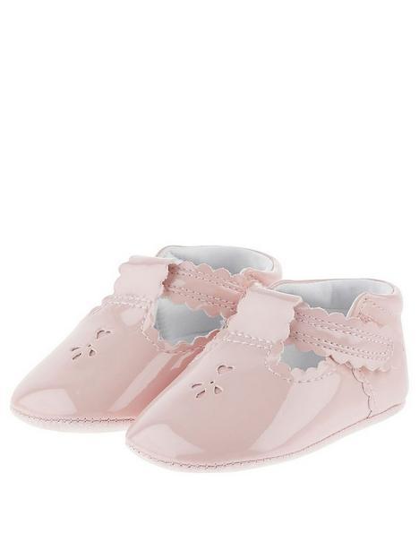 monsoon-baby-girls-patent-cutwork-bootie-pink