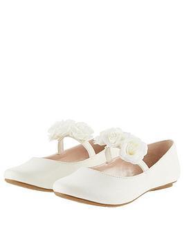 monsoon-girls-shimmer-corsage-ballerina-shoes-ivory