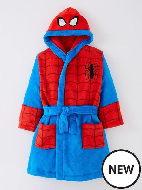 spiderman-boys-spiderman-novelty-dressing-gown-bluered